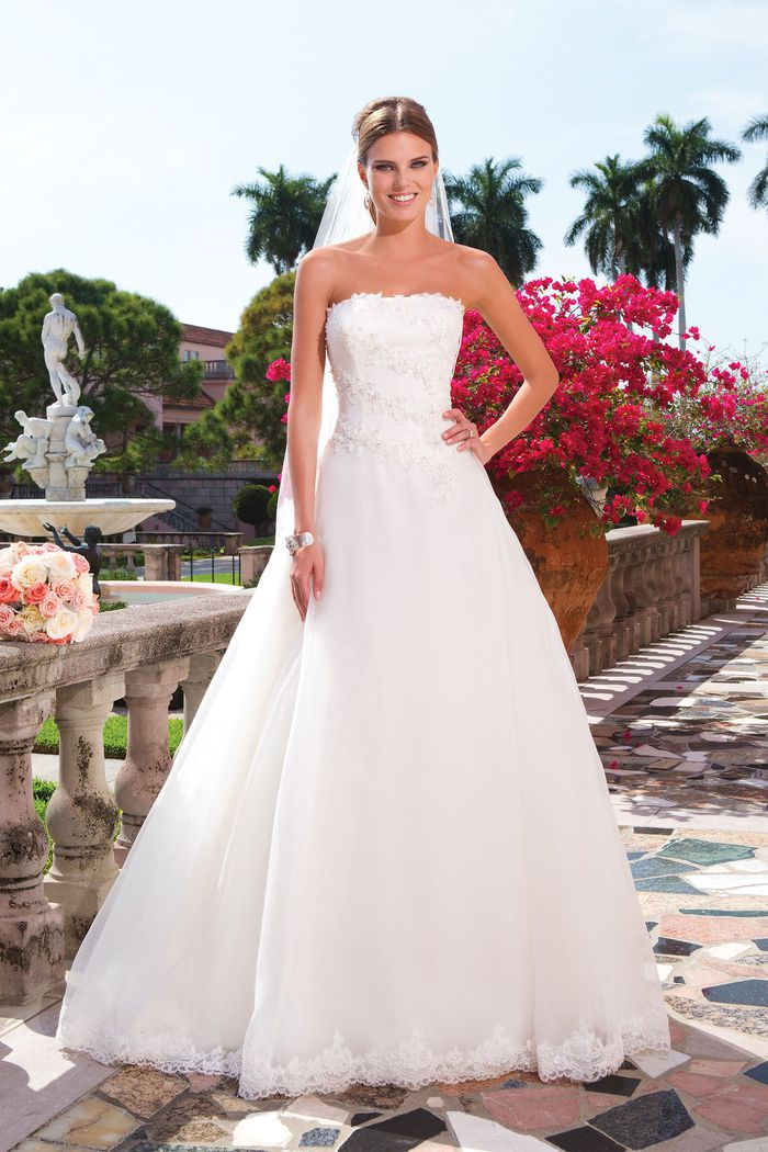 Sweetheart Gowns Style 6044 Strapless organza ball gown