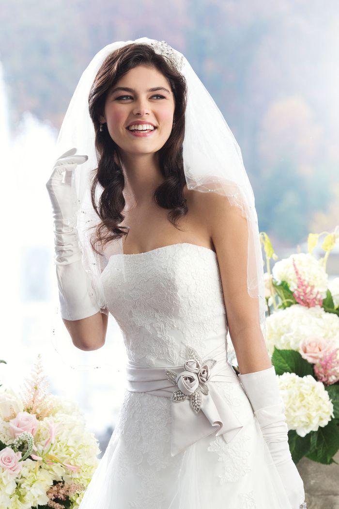 Sincerity Bridal Style 3761 Strapless lace A-line dress