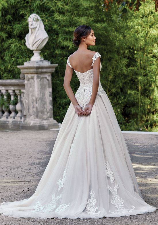 Sincerity Bridal Style 44141 Sweetheart Gowns Style  A-Line Tulle Gown with Detachable Lace Straps