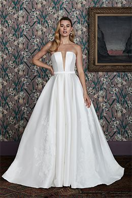 clean bridal ball gown