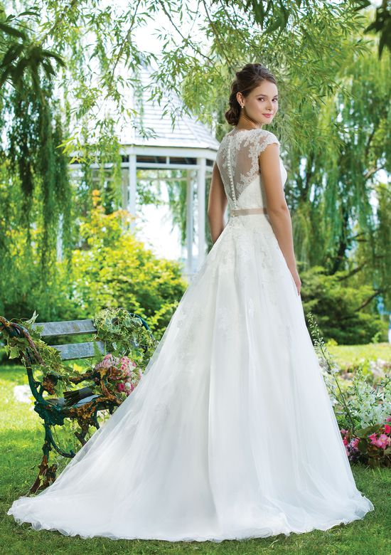 Sweetheart Gowns Style 6097 Alencon Lace and Tulle Ball Gown with Sabrina Neckline
