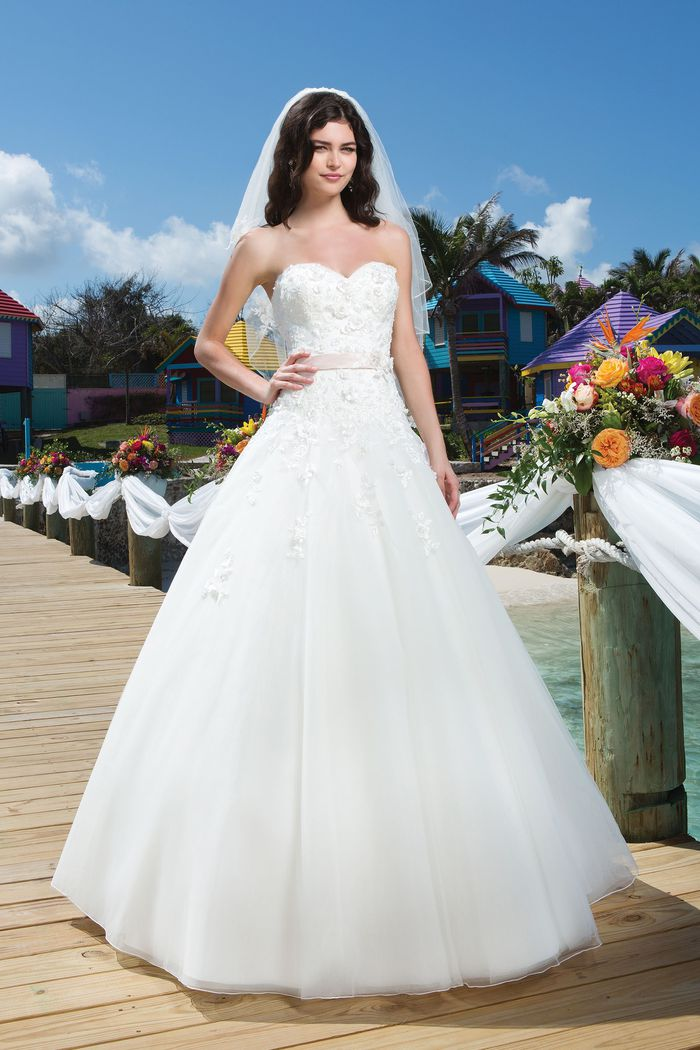Sincerity Bridal Style 3775 Tulle ball gown with a sweetheart neckline