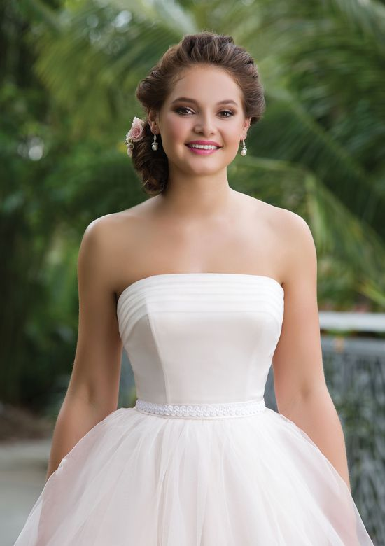 Sweetheart Gowns Style 6131 Tulle Short Ball Gown featuring a Strapless neckline