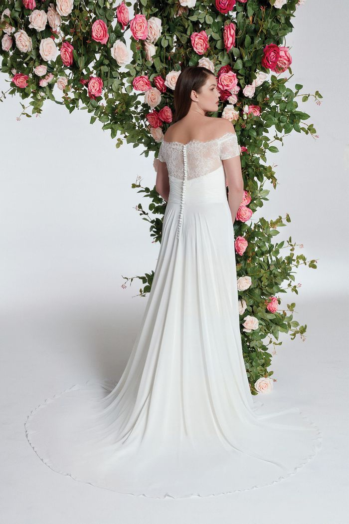 Sweetheart Gowns Style 11059 Off the Shoulder Lace Bodice A-line Chiffon Gown