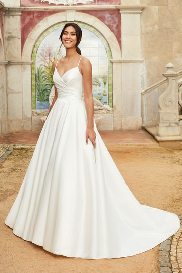 Sincerity Bridal Style 44241 A-Line Dress with Ruched Bodice