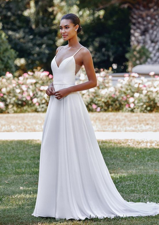 Sincerity Bridal Style 44118 Mikado and Chiffon A-Line Gown