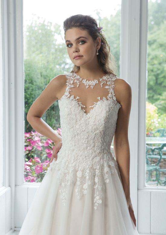 Sweetheart Gowns Style 11082 Illusion Jewel Collar Tulle Ball gown with Venice Lace Appliques