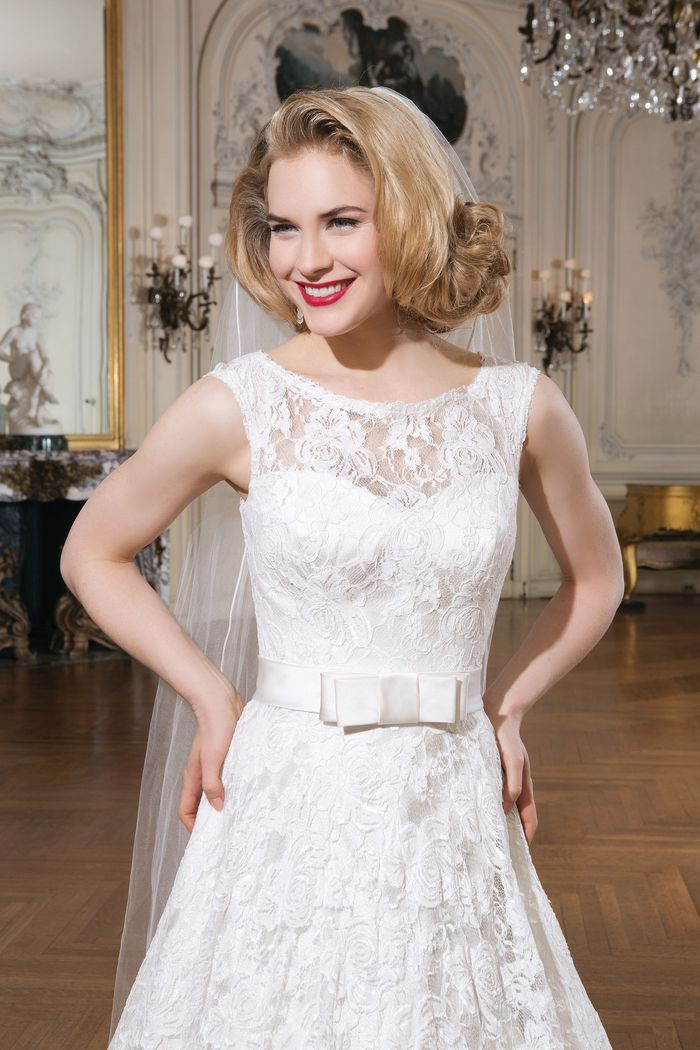 Justin Alexander Style 8714 Circular Cut Ball Gown with Double Bow Belt