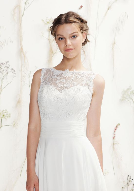 Lillian West Style 6401 Beaded Lace and Chiffon A-Line Gown