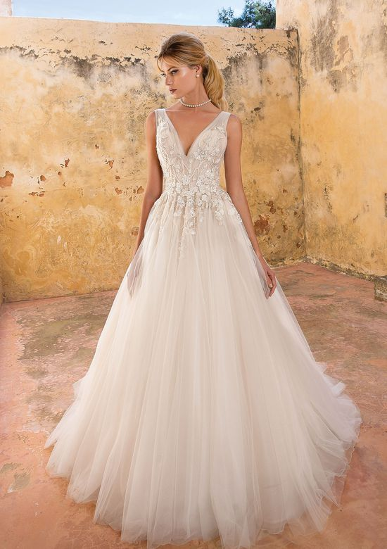 Justin Alexander Style 88054 Ruched Tulle Bodice Ball Gown