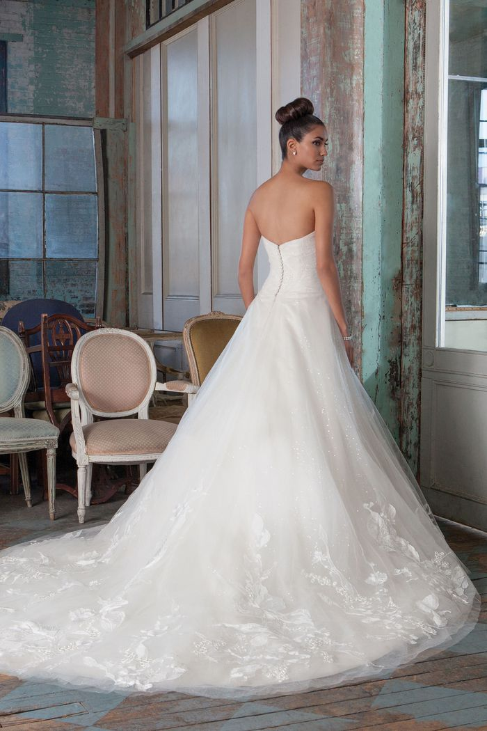 Justin Alexander Signature Style 9822 Embroidered Lace and Sequin Tulle Ball Gown