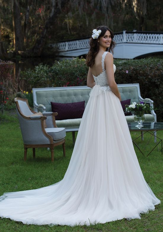 Sincerity Bridal Style 3939 Sequined Embroidered Lace Ball Gown with Tulle Skirt