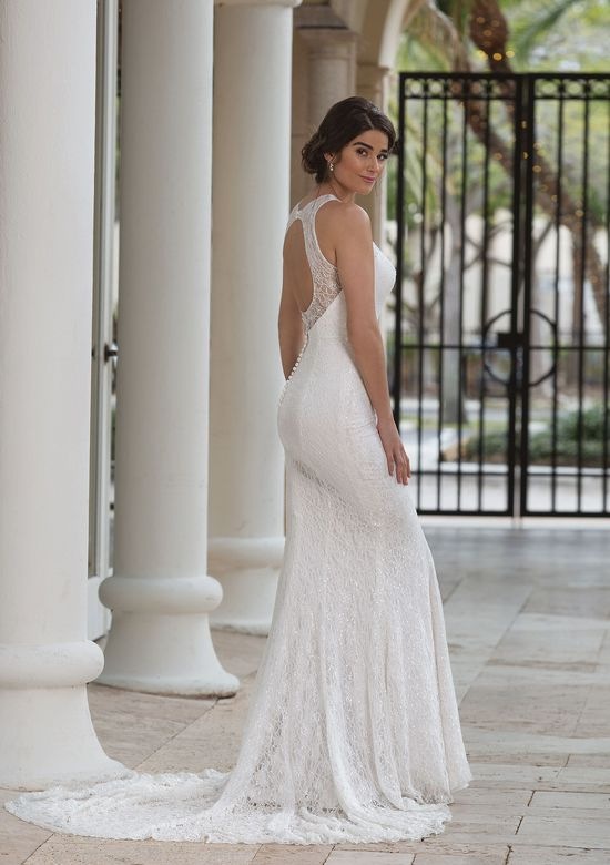 Sincerity Bridal Style 44096 Allover Sequined Lace Jewel Neck Gown