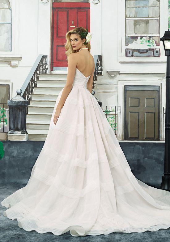 Justin Alexander Style 8949 Tiered Organza Ball Gown with Cummerbund