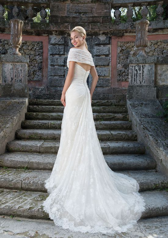 Sincerity Bridal Style 3908 Chantilly Lace A-line Gown with Detachable Lace Wrap
