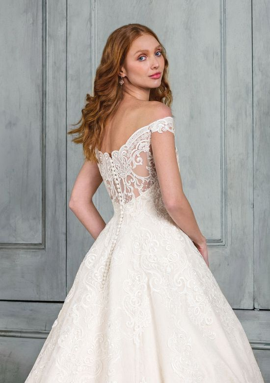Justin Alexander Signature Style 99005 Allover Lace Off the Shoulder Ball Gown
