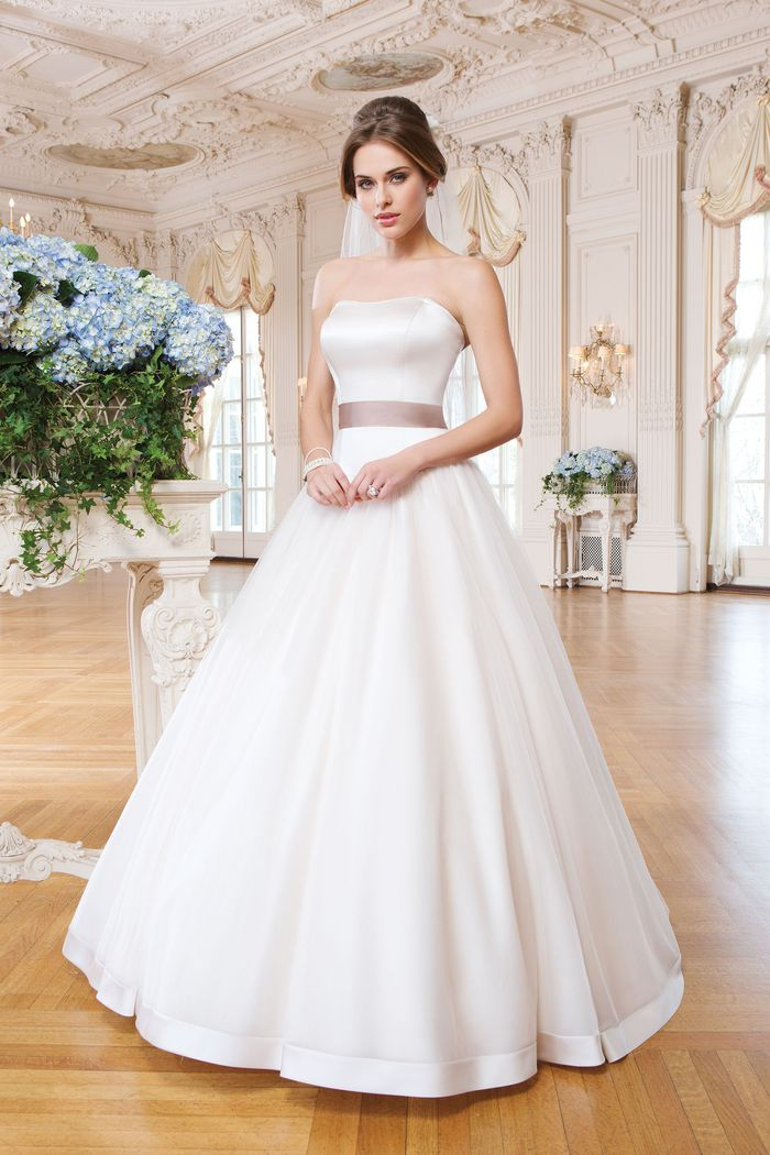 Lillian West Style 6359 Clean Matte Satin Ball Gown