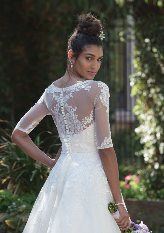 Sincerity Bridal Style 4000J Stretch Tulle Elbow-Length Jacket