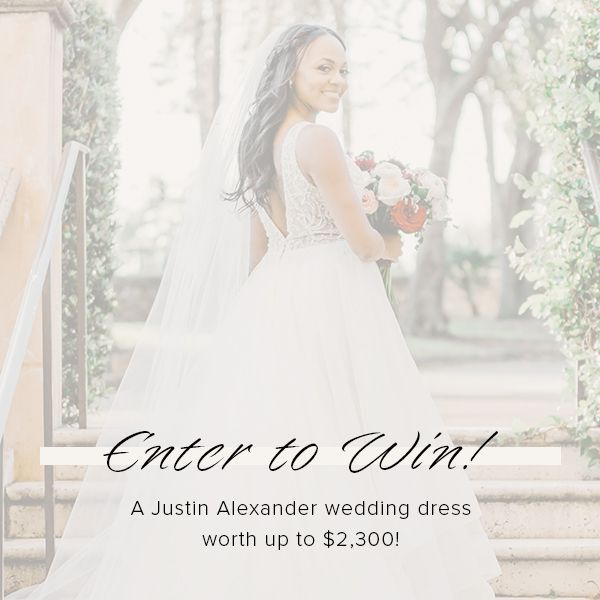 Justin Alexander + WeddingWire Sweepstakes September 2020