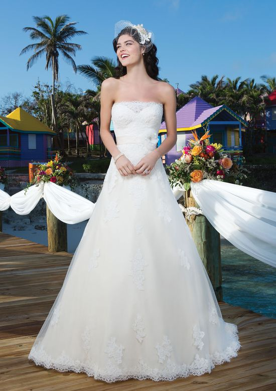 Sincerity Bridal Style 3784 Strapless tulle ball gown