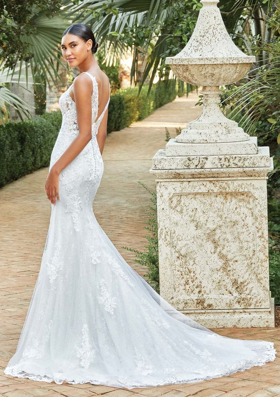 Sincerity Bridal Style 44199 Illusion Bodice Fit and Flare with Sequin Lace Underlay
