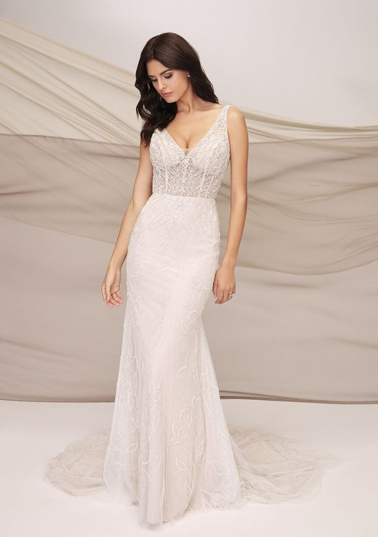 Justin Alexander Signature Style 99126 ATHENS Beaded Fit and Flare Gown with Galaxy Tulle and Illusion Bodice