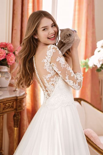 Sweetheart style 11068 Tulle A-line Gown with Sequined Beaded Appliques