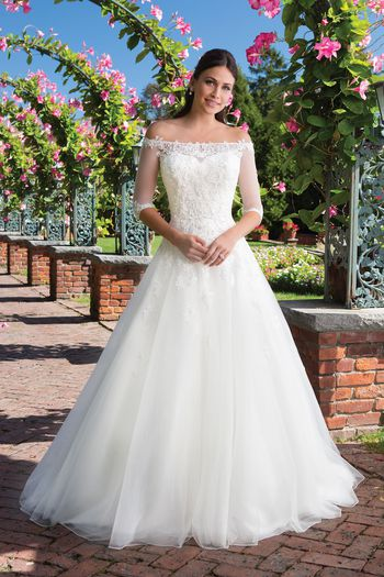 Sincerity Bridal Style 3928 Venice Lace Ball Gown with Popover Jacket