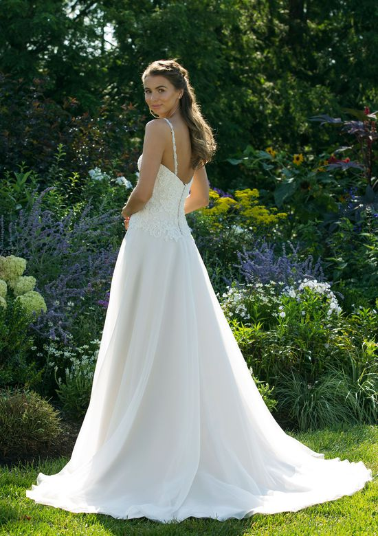 Sweetheart Gowns Style 11037 Asymmetrical Lace A-line Gown with Clean Skirt