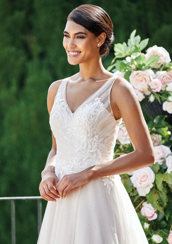 Sincerity Bridal Style 44218 Sparkle Tulle A-Line Gown with Beaded Lace