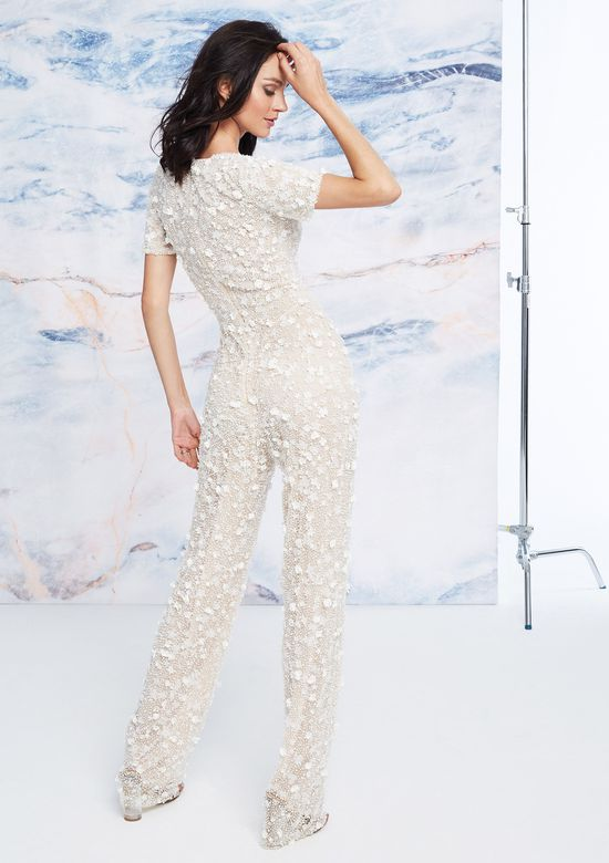 Justin Alexander Signature Style 99067 Allover Beaded Jumpsuit