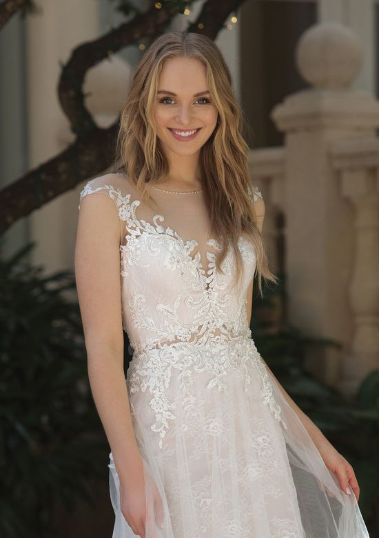 Sincerity Bridal Style 44072 Lace A-line with Illusion Cutout at Waist