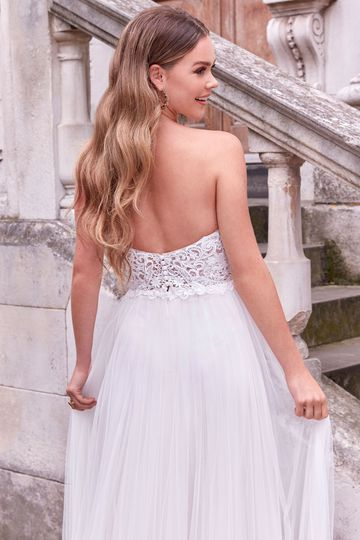 Adore by Justin Alexander Style 11187 Jubilee A-Line Dress with Detachable Off the Shoulder Blouson Sleeves