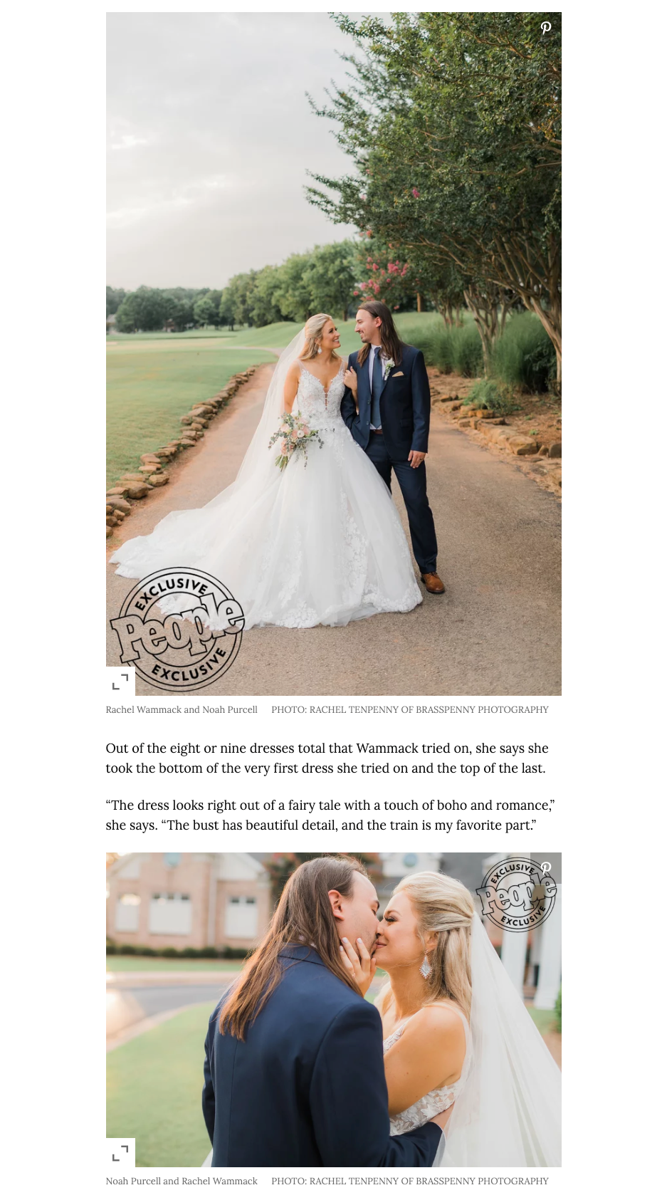 Editorial Coverage #JASbride Rachel Wammack in People