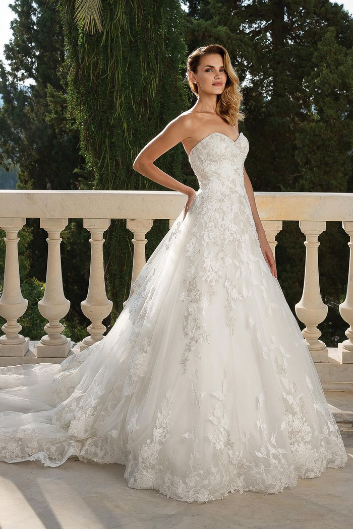 Justin Alexander Style 88098 Metallic Beaded and Embroidered Lace Ball Gown