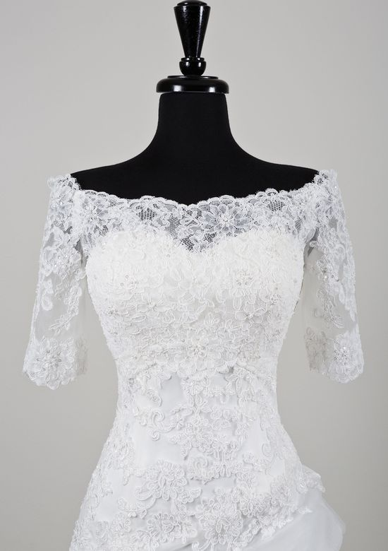 Justin Alexander Beaded Alencon Lace Off the Shoulder Jacket | Accessories