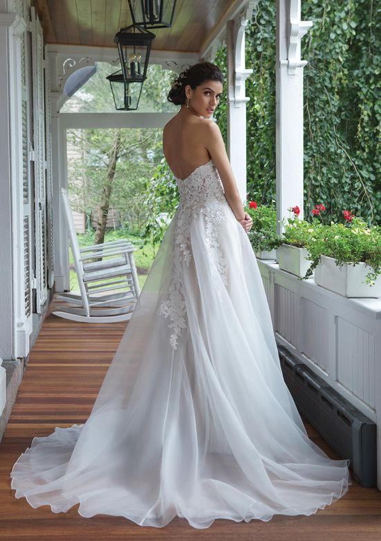 Sweetheart Gowns Style 11090 Venice Lace Sweetheart Gowns Style  Gowns Style ns Style ns Style n with Organza A-line Skirt