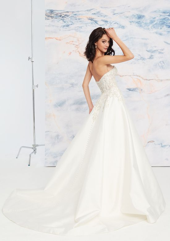 Justin Alexander Signature Style 99061 Beaded Illusion Bodice with Mikado Skirt Ball Gown