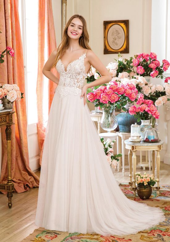 Sweetheart Gowns Style 1142 Slim A-line Gown with Illusion Bodice and Eyelash Lace