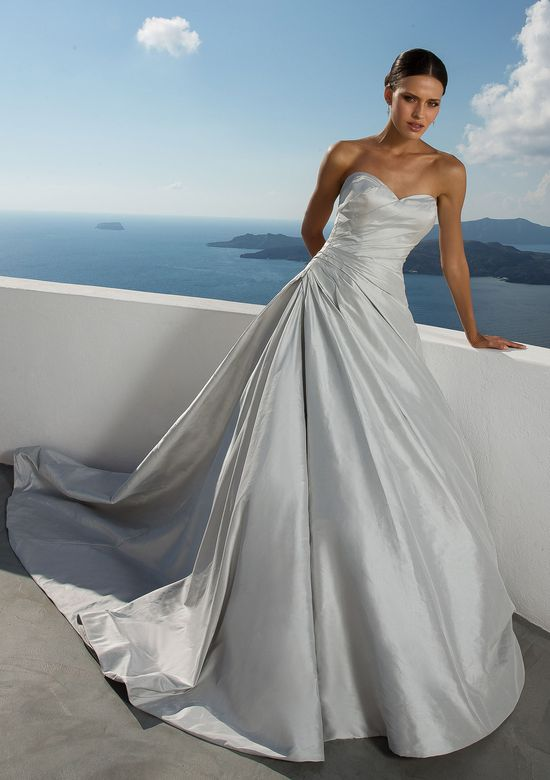 Justin Alexander Style 88029 Asymmetrical Ruched Silk Dupion Ball Gown