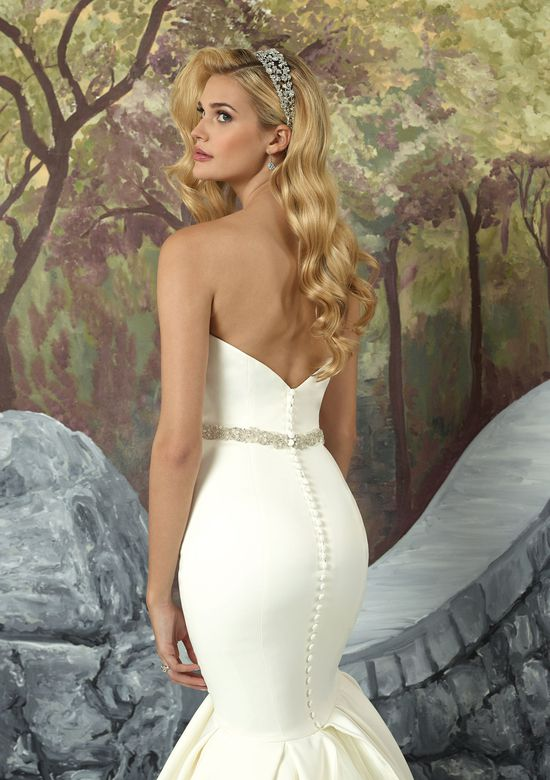 Justin Alexander Style 8933B Detachable Belt Embellished with Crystals and Pearls