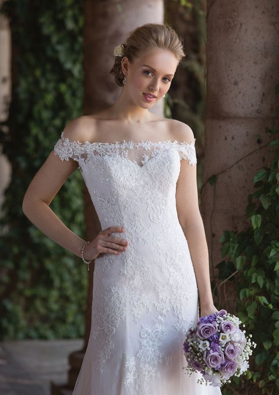 Sincerity Bridal Style 4022 Illusion Lace Off the Shoulder Trumpet Gown