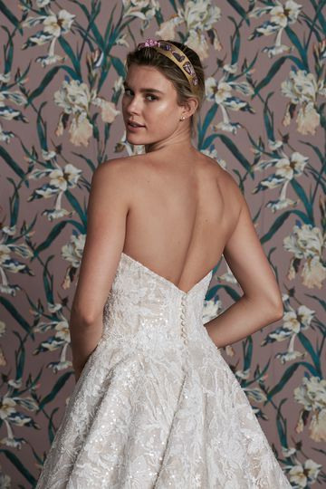 Justin Alexander Signature Style 99157 ANITA Fully Beaded Ball Gown with Embroidered and Chiffon Appliques