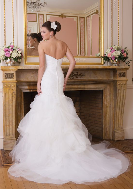 Sweetheart Gowns Style 6010 Strapless tulle mermaid dress