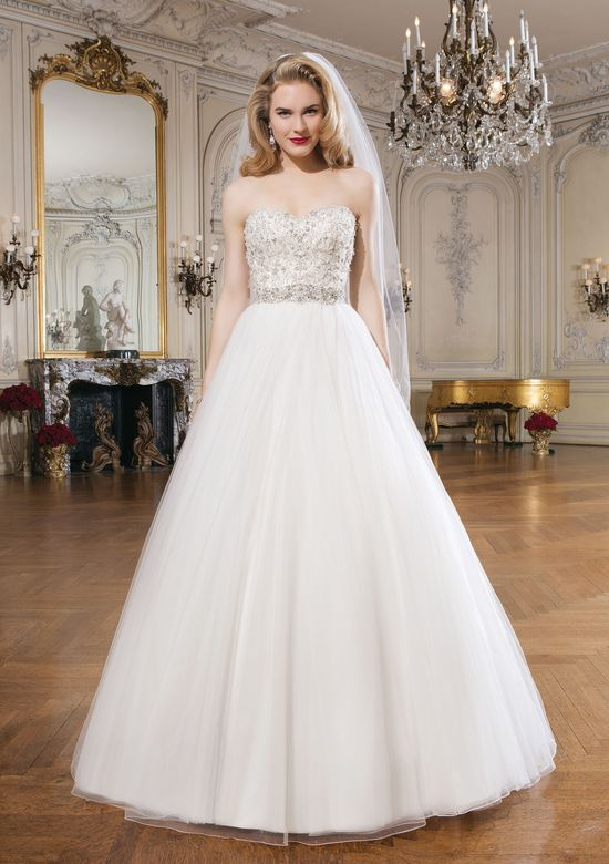 Justin Alexander Style 8724 Tulle Ball Gown with Beaded Sweetheart Bodice