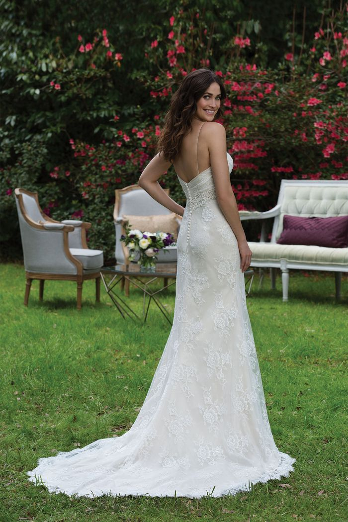 Sincerity Bridal Style 3940 Chantilly Lace Gown with Sweetheart Neckline and Straps