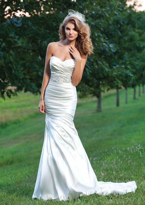 Sincerity Bridal Style 3666 Ruched Charmeuse Mermaid Dress