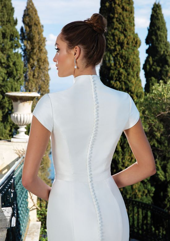 Justin Alexander Style 88132 Clean Mikado Dress