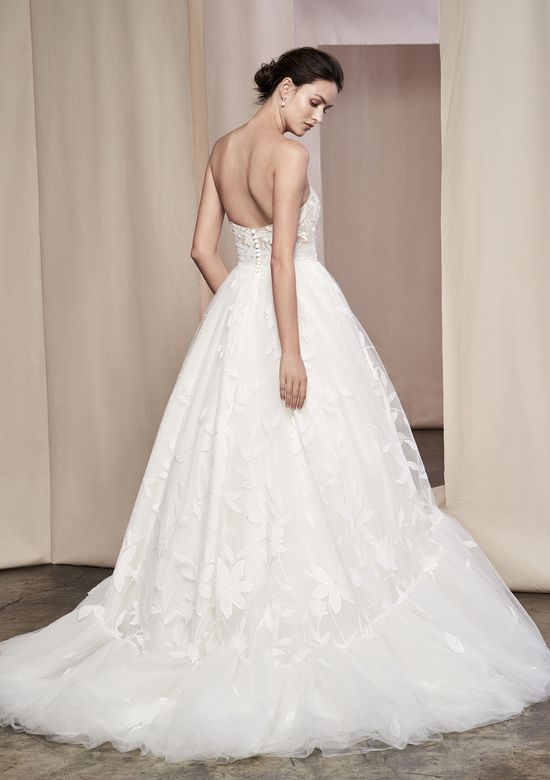 Justin Alexander Signature Style 99109 Willow Floral Appliqued Tulle Ball Gown