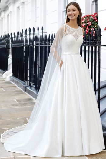 Adore by Justin Alexander Style 11110V Cathedral Length Veil with Delicate Lace Trim